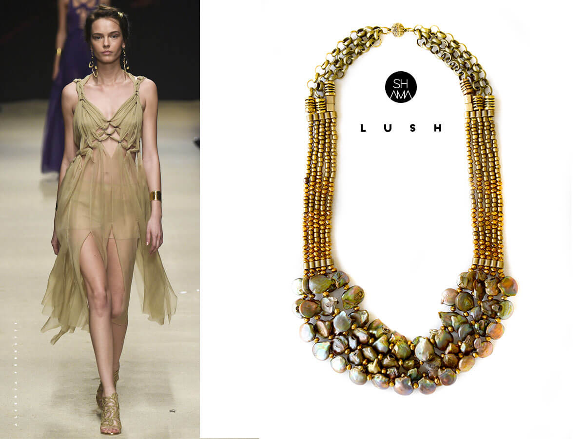 lush necklace by SHAMA por tii
